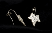 stone leaf drop earrings