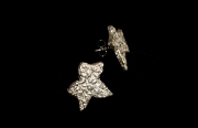 stone leaf studs earrings