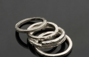 selection of textured rings